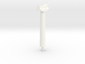 OO Gauge Platform Canopy Post in White Processed Versatile Plastic