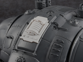 Plasma Coil - Carapace Hatch in Smoothest Fine Detail Plastic