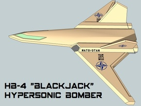 3mm Sci-Fi Hypersonic Bombers (2pcs) in Smooth Fine Detail Plastic
