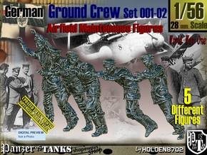 1/56 German Ground Crew SET001-02 in Smooth Fine Detail Plastic