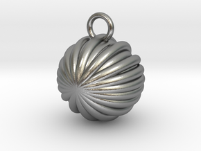 Shell Inspired Key Chain in Natural Silver