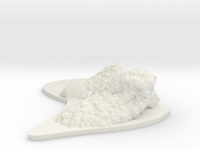Low Profile Asteroid Group 4 in White Natural Versatile Plastic