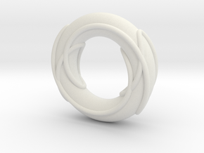 Color Prime Link 6^2_3 on a Torus in White Natural Versatile Plastic