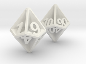 D10/100 Set - Plunged Sides in White Natural Versatile Plastic