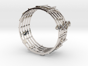 Music Bracelet in Platinum
