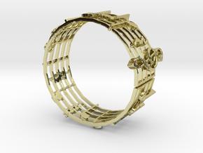 Music Bracelet in 18k Gold Plated Brass
