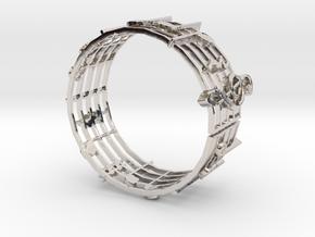 Music Bracelet in Rhodium Plated Brass