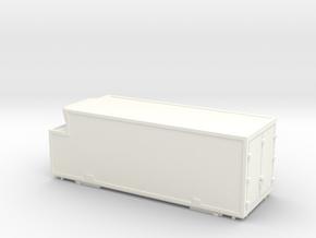 RhB container swap-body Wechselbehälter in White Processed Versatile Plastic: 1:150