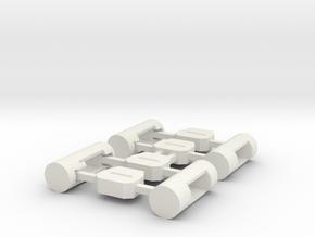 MiSTer Case Universal v5.x ButtonsKit in White Premium Versatile Plastic