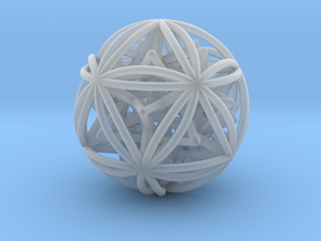 Icosasphere w/ Nested SuperStar  in Smooth Fine Detail Plastic