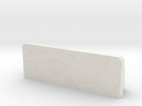 Warhammer 40K - Battle Damaged Barrier in White Natural Versatile Plastic