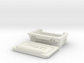 Half YETI Cooler Tundra 1.10 Scale 50mm wide 2 pie in White Natural Versatile Plastic