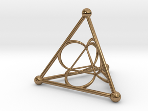 Nested Tetrahedron in Natural Brass