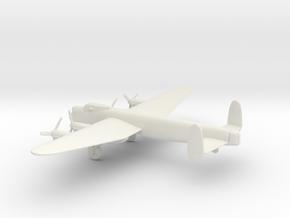 Avro Lancaster Dambuster in White Natural Versatile Plastic: 1:160 - N
