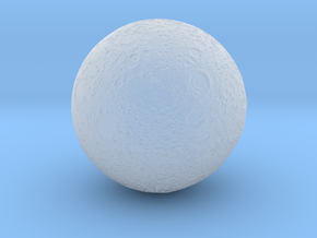 1 Inch Moon for Space Diorama in Smooth Fine Detail Plastic