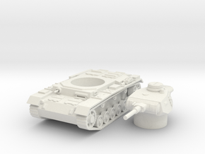 panzer III J scale 1/87 in White Natural Versatile Plastic
