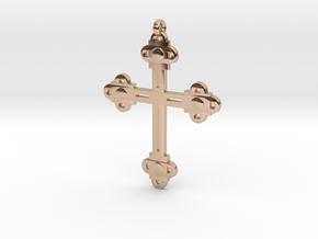 Holy Cross Pendant in 14k Rose Gold Plated Brass