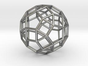 "Rhombicosidodecahedron Precious Metals 1"" in Natural Silver"