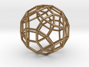 Rhombicosidodecahedron Silver in Natural Brass