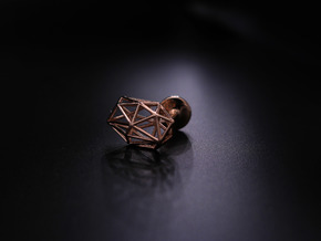 Cufflinks Geometric in 14k Rose Gold Plated Brass