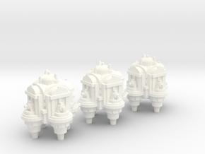 Orbital Defence Platform in White Processed Versatile Plastic