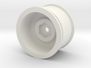 M chassis wheel 1-5mm offset in White Natural Versatile Plastic
