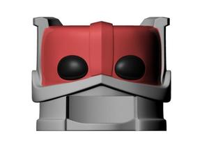 Zodac's helmet for minimate in Smooth Fine Detail Plastic
