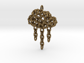 Rainy Pendant in Polished Bronze (Interlocking Parts)