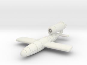 (1:144) V-1 flying bomb (Disposable Porsche Jet) in White Natural Versatile Plastic