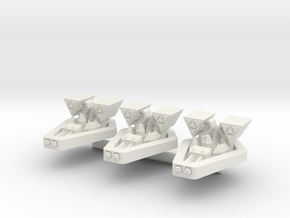 PH102 Vistrixon Strike Corvette (x3) in White Natural Versatile Plastic