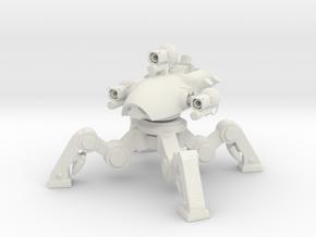 Desktop Sculpture War Robot Fujin w Taran in White Natural Versatile Plastic