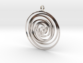 Time in Rhodium Plated Brass