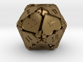 D20 Balanced - Hearts in Natural Bronze