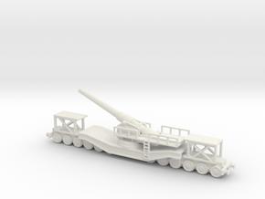 cannon de 240 1/76  railway artillery ww1  in White Natural Versatile Plastic