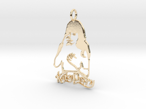 Katy Perry Fan Pendant - Exclusive Jewellery in 14K Yellow Gold