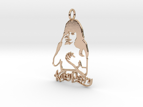 Katy Perry Fan Pendant - Exclusive Jewellery in 14k Rose Gold Plated Brass