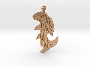 Shard Fish Pendant (inverted) in Natural Bronze