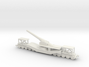 cannon de 240 1/285 6mm   railway artillery ww1  in White Natural Versatile Plastic