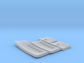 DeAgo Falcon Corridor - Starboard Pads with Sconce in Smoothest Fine Detail Plastic