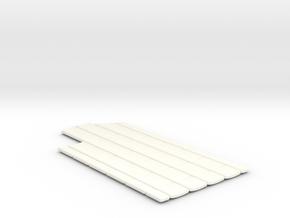DeAgo Falcon Corridor - Straight Pads in White Processed Versatile Plastic