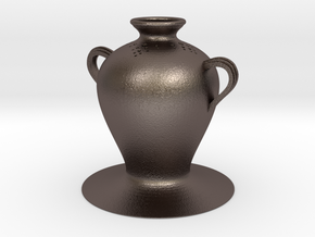 Vase 273800 in Polished Bronzed Silver Steel