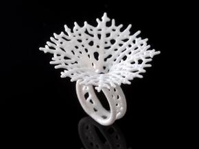 Hyphae Ring in White Strong & Flexible Polished: 7 / 54