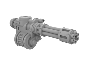 Mini Knight - Rotary Gun (Right) in Smooth Fine Detail Plastic
