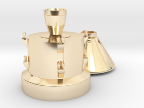 Orion capsule and booster stage in 14k Gold Plated Brass