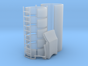 DeAgo Falcon Corridor - Turret Tube, Pads & Ladder in Smooth Fine Detail Plastic