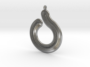 Circles & Scales Pendant #1 in Natural Silver