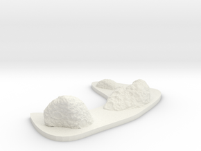 Low Profile Asteroid Group 7 in White Natural Versatile Plastic