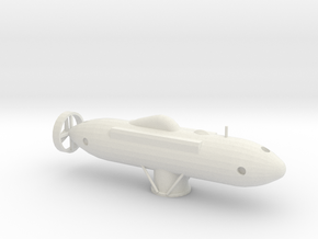 1/200 Scale DSRV-1 Mystic in White Natural Versatile Plastic