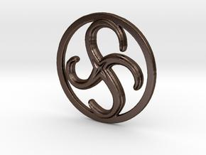 Anti-Clockwise Metamorphosis in Polished Bronze Steel
