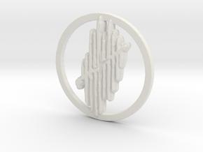 Claw Mark in White Natural Versatile Plastic
